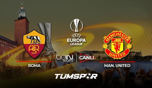 Roma Manchester United maçı canlı izle! BeIN Sports UEFA Avrupa Ligi Roma United canlı skor!