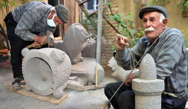 Şanlıurfa'da baba mesleği taş ustalığını sanata dönüştürdü!