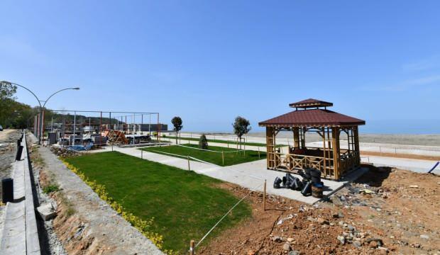 Trabzon'da bulunan Yalıncak plajı deniz sezonuna yetiştirilecek!