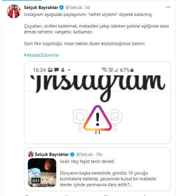 Selçuk Bayraktar, Instagram