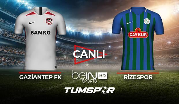 Gaziantep FK Rizespor maçı canlı izle! BeIN Sports Antep Rize maçı canlı skor takip!