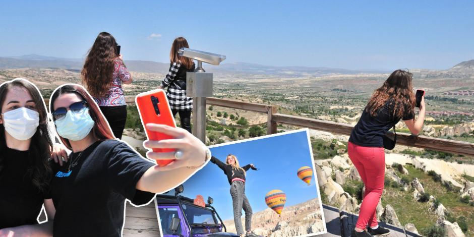 Kapadokya bayramda turistlere kaldı