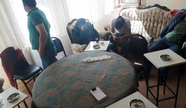 Kütahya'da kumar oynayan 9 kişiye para cezası