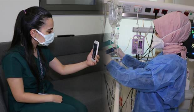 Sağlık çalışanları sevdikleriyle çevrimiçi bayramlaşıyor!
