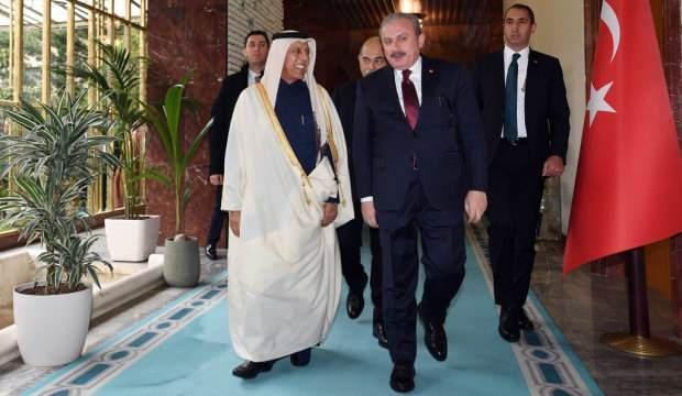 TBMM Başkanı Şentop, Katar Şura Meclisi Başkanı El Mahmud ile telefonda bayramlaştı