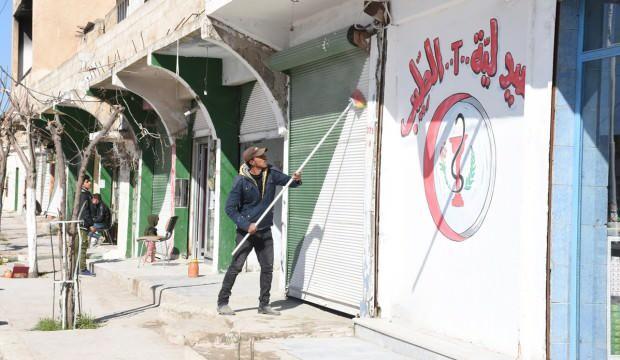"""Tel Abyad sokakları bayrama """"güzelleşerek"""" giriyor"""