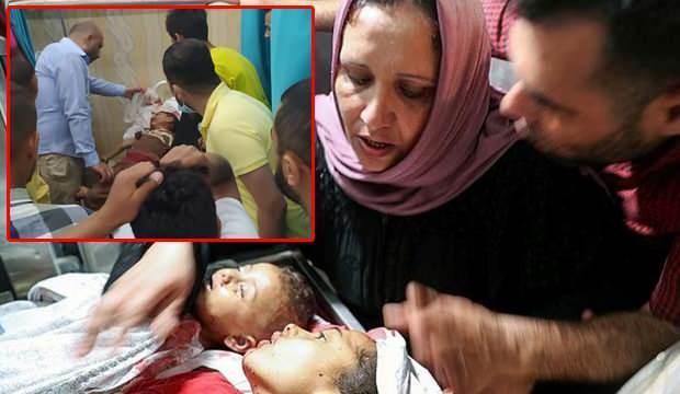 Katil İsrail'in saldırılarında çocuklar ve bebekler de vefat etti.