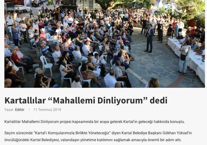 İstanbul Mahallemi Dinliyorum Projesi