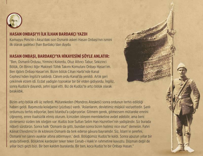 Mescid-i Aksa'daki son Osmanlı askeri Onbaşı Hasan
