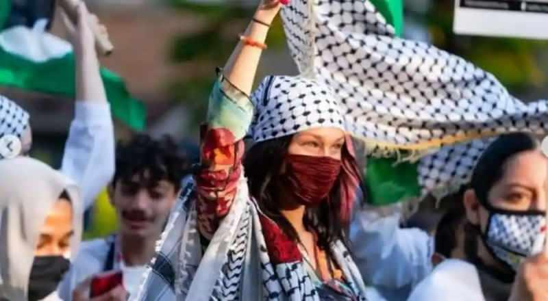 Bella Hadid, Filistin halkı için sokağa çıktı!