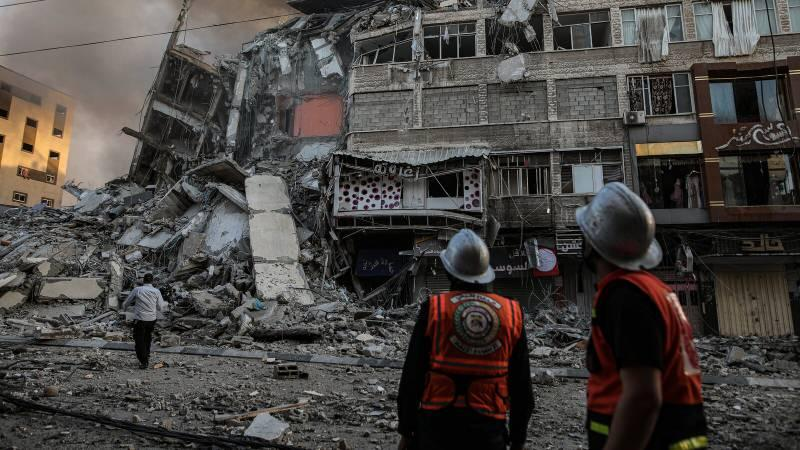 İsrail'in saldırıların geriye yıkım kaldı.