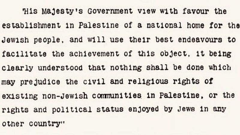 Balfour Deklarasyonu'nun kritik 67 kelimesi