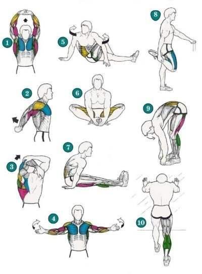 Bacak ve beli rahatlatan esneme hareketleri