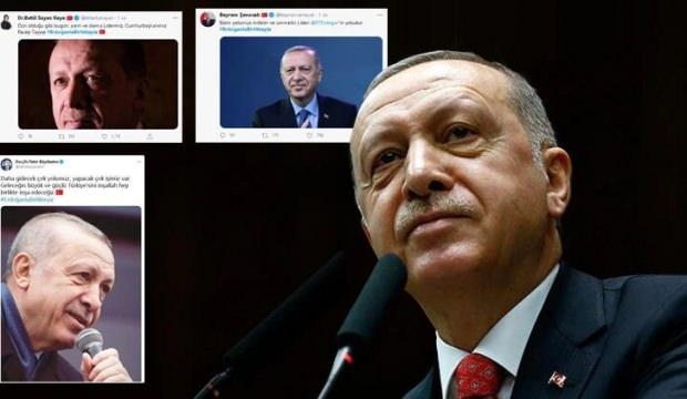 """Binlerce tweet atıldı! """"Erdoğanla Birlikteyiz"""""""