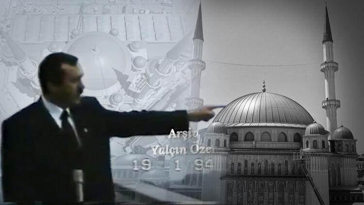 Cumhurbaşkanı Erdoğan 27 yıl önce Taksim Camii'ni işaret etmişti