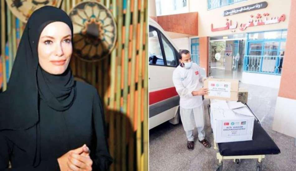 Zeynep Gamze Özçelik Gazze'nin yaralarını sardı! Özçelik'ten kalplere dokunan hareket...