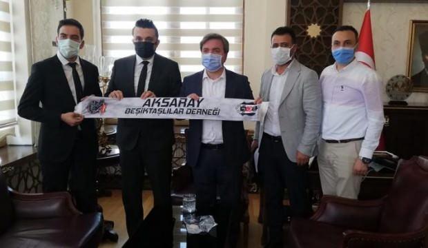 Aksaray Valisi Beşiktaşlıları kabul etti