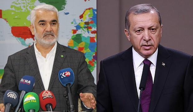 Başkan Erdoğan'dan HÜDA PAR Genel Başkanı Yapıcıoğlu'na tebrik telefonu