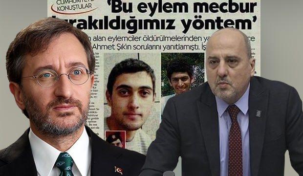 Terörü aklamaya çalışan Ahmet Şık, Altun'un paylaşımından şikayetçi oldu!