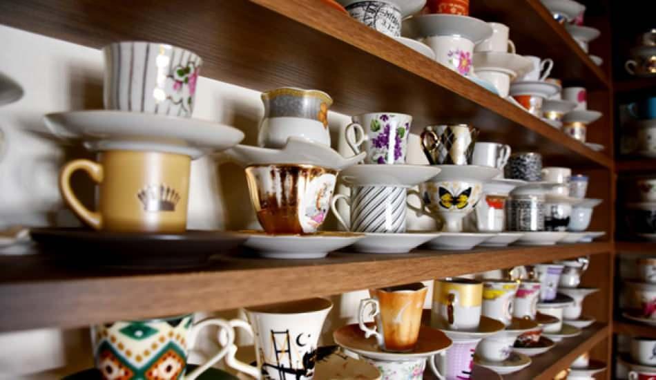 Malatya'da 3 bin kahve fincanı ile koleksiyon yaptı