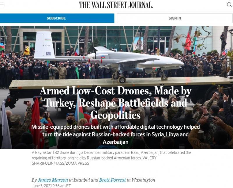 Wall Street Journal: Türk SİHA'ları jeopolitiği yeniden şekillendiriyor