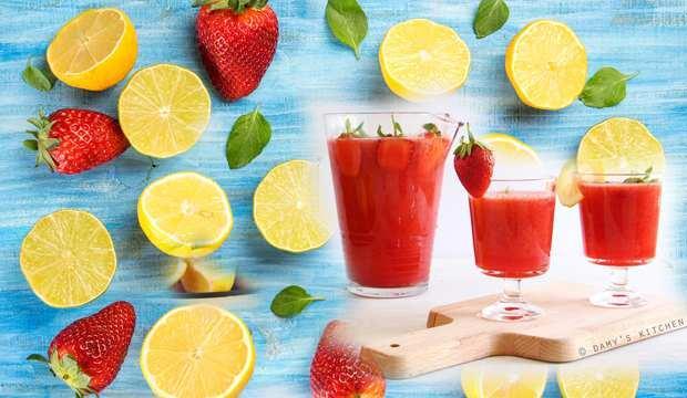 Çilekli limonata nasıl yapılır? Naneli, portakallı ve çilekli limonata tarifi...