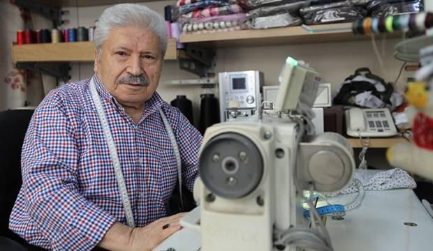 70 yaşındaki Yakup amca 54 yıldır çubuklu pijama ve gömlek dikiyor!