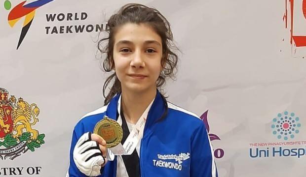 Genç tekvandocu, Avrupa şampiyonu oldu