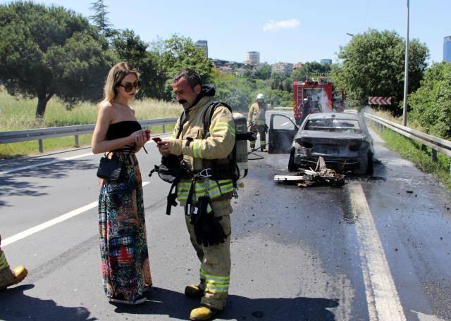 15 Temmuz Şehitler Köprüsü'nde yangın paniği!