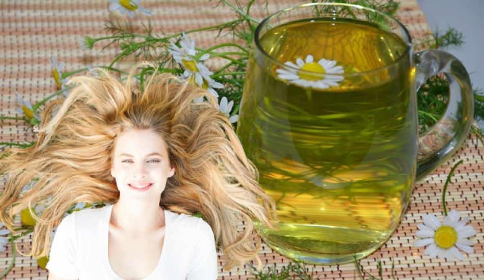 Papatya suyuyla saç rengi açılır mı? En etkili papatya suyuyla saç açma tekniği