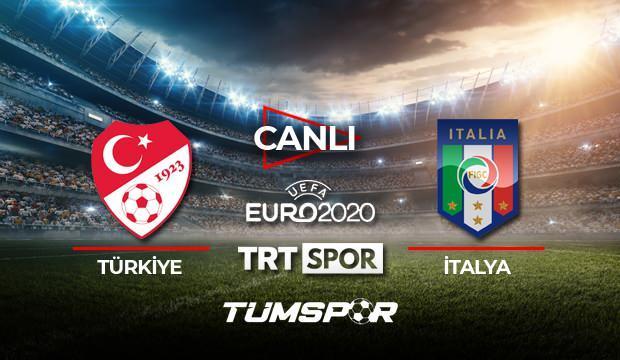Türkiye İtalya maçı canlı izle! EURO 2020 TRT Türkiye İtalya maçı canlı skor takip!