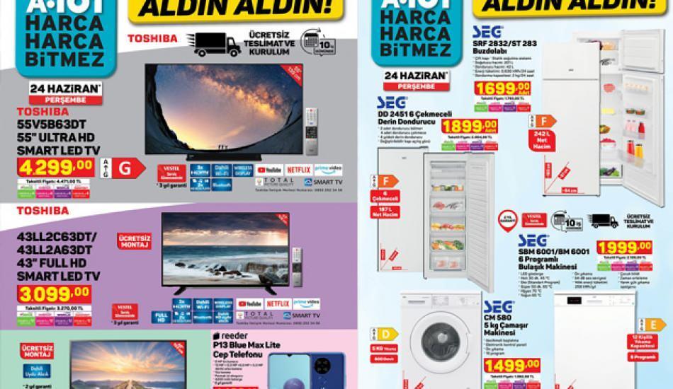 A101'de ücretsiz teslimat ve kurulum! 24 Haziran A101 indirim kataloğundaki ürünler nelerdir?