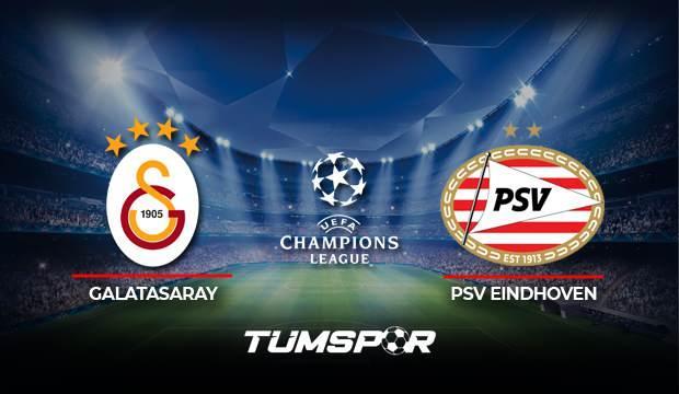 Galatasaray PSV Eindhoven maçı ne zaman saat kaçta? Şampiyonlar Ligi Galatasaray PSV hangi kanalda?