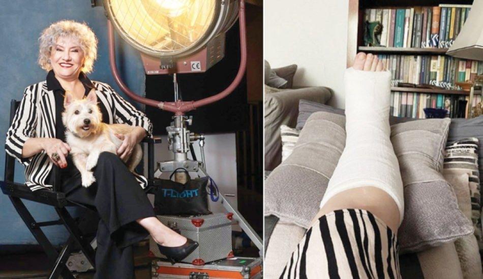 Menajerimi Ara'nın Peride'si Ayşenil Şamlıoğlu sette ayağını kırdı!