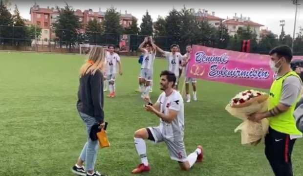 Önce sahada kazandı, sonra evlilik teklifi etti