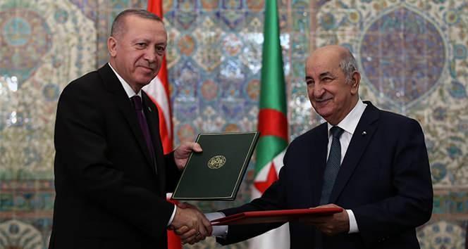 Cumhurbaşkanı Erdoğan ve Cezayir Cumhurbaşkanı Abdulmecid Tebbun