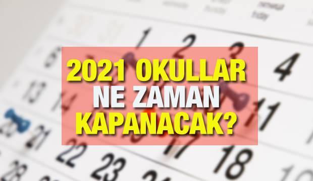 Okullar ne zaman kapanacak? MEB 2021 yaz tatili takvimlerini duyurdu! Yeni eğitim yılı Eylül'de...