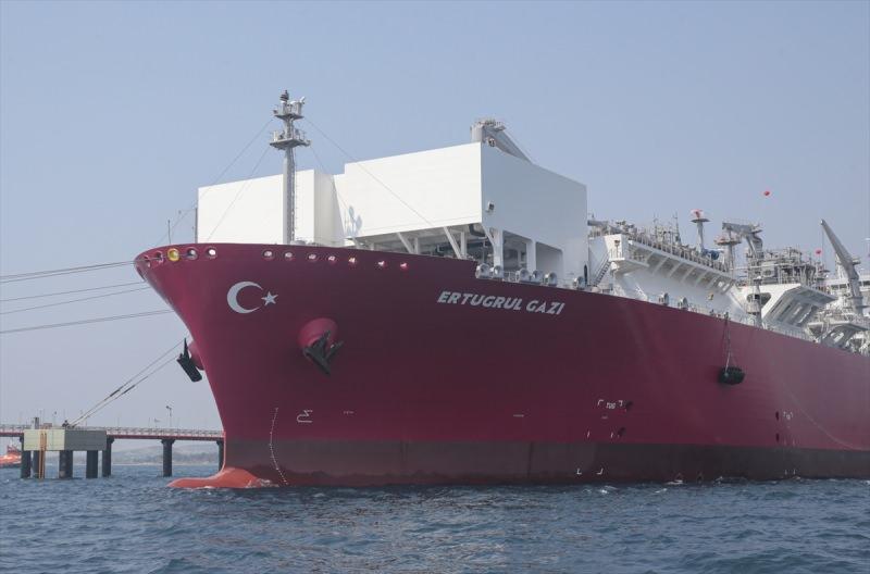 Türkiye'nin ilk doğal gaz depolama gemisi Ertuğrul Gazi hizmete girdi.