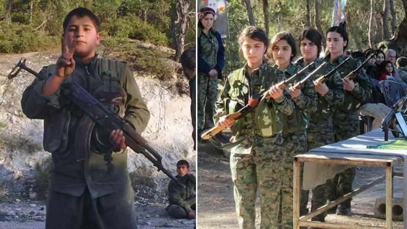 PKK/YPG'nin elindeki çocuk savaşçılar böyle görüntülenmişti.