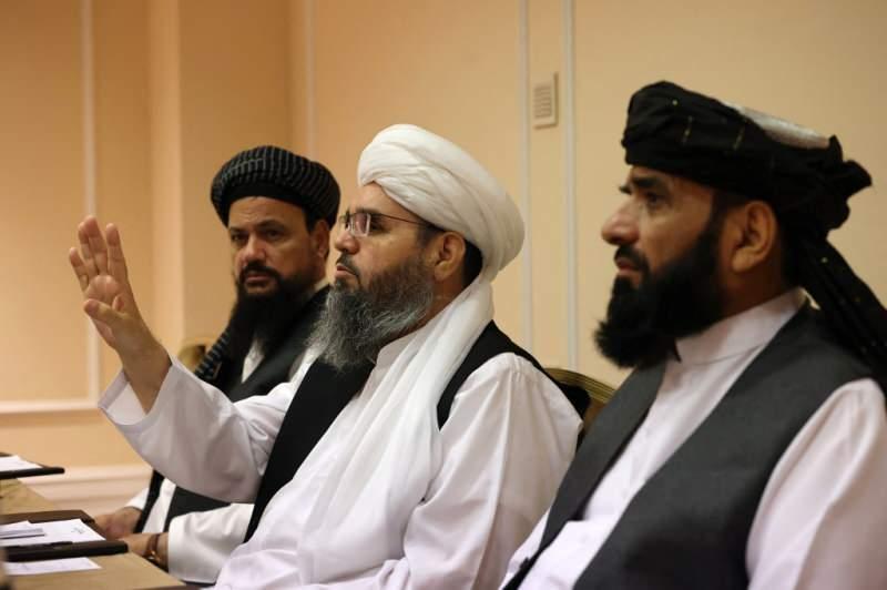 Moskova'da açıklama yapan Taliban heyeti