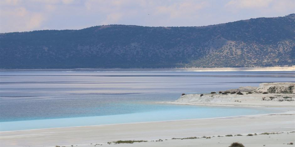 Salda Gölü'nde Beyaz Adalar eski haline geri döndü