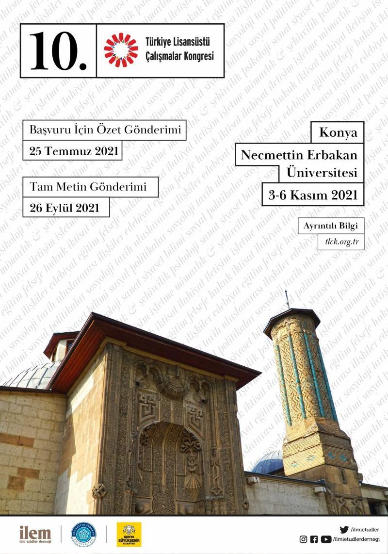 10. Türkiye Lisansüstü Çalışmalar Kongresi Konya'da gerçekleştirilecek