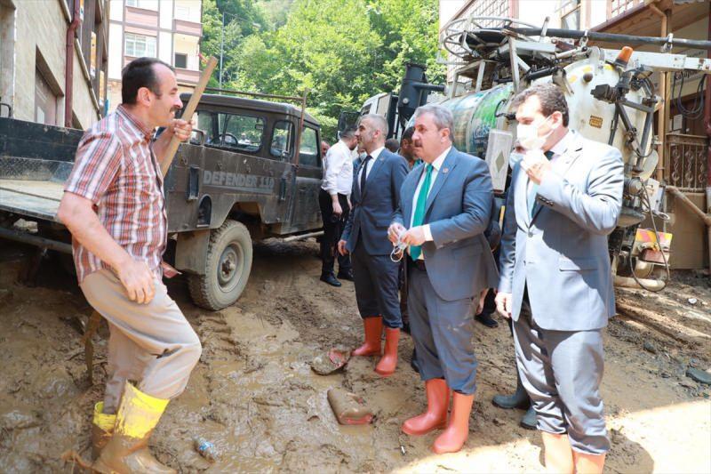 BBP Genel Başkanı Destici, Rize'nin Güneysu ilçesinde incelemelerde bulundu