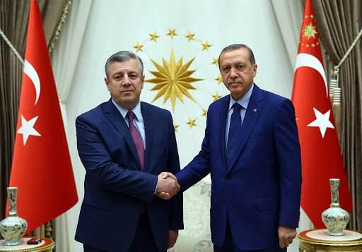 Giorgi Kvirikashvili ile Erdoğan