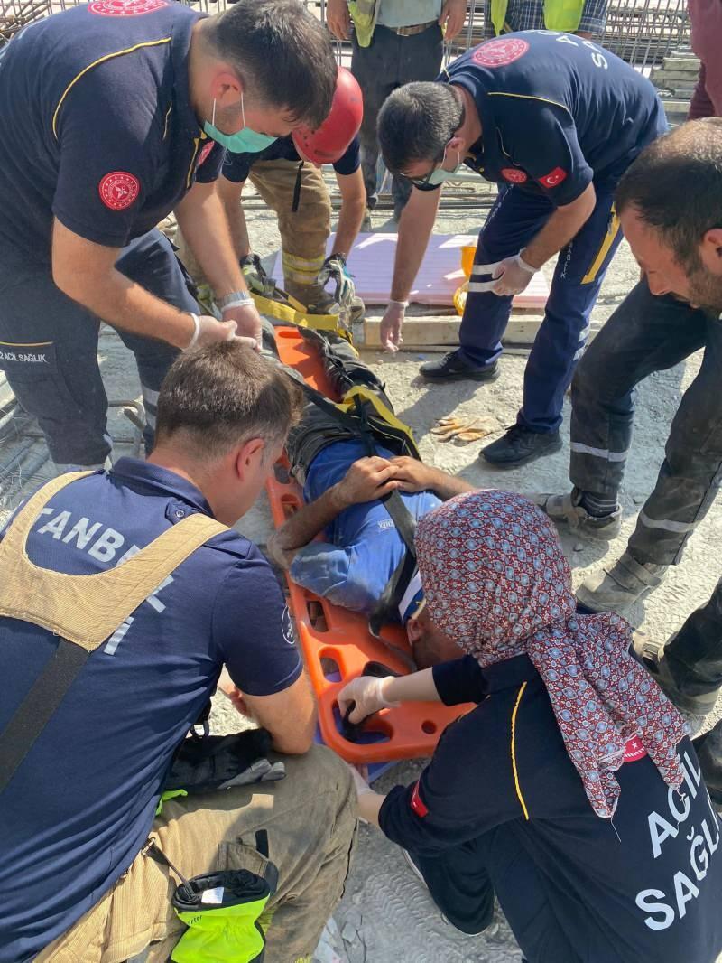 İSKİ'ye ait şantiye alanında iş kazası: 3 işçi ağır yaralandı