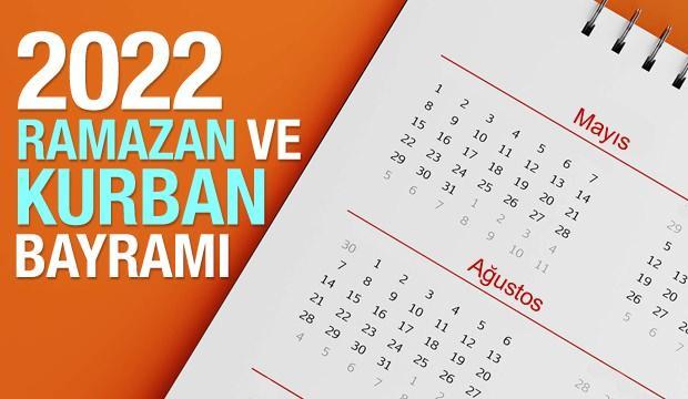 2022 yılında Ramazan Bayramı ve Kurban Bayramı hangi aylara denk gelecek? Diyanet takvimi...
