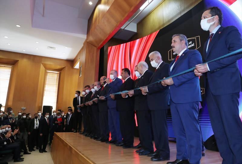 Lefkoşa'da toplu açılış ve temel atma töreni