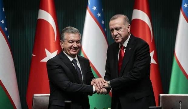 Son Dakika: Başkan Erdoğan, Mirziyoyev ile görüştü