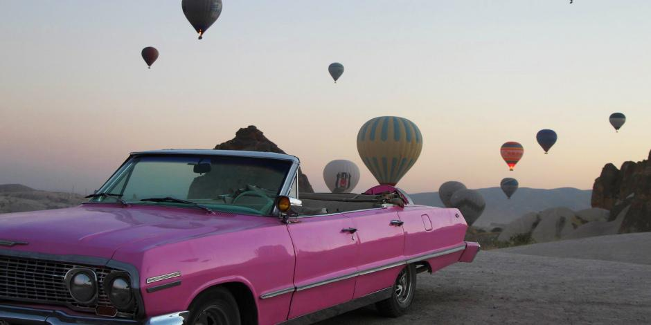 Kapadokya'da bayram gökyüzünde karşılandı
