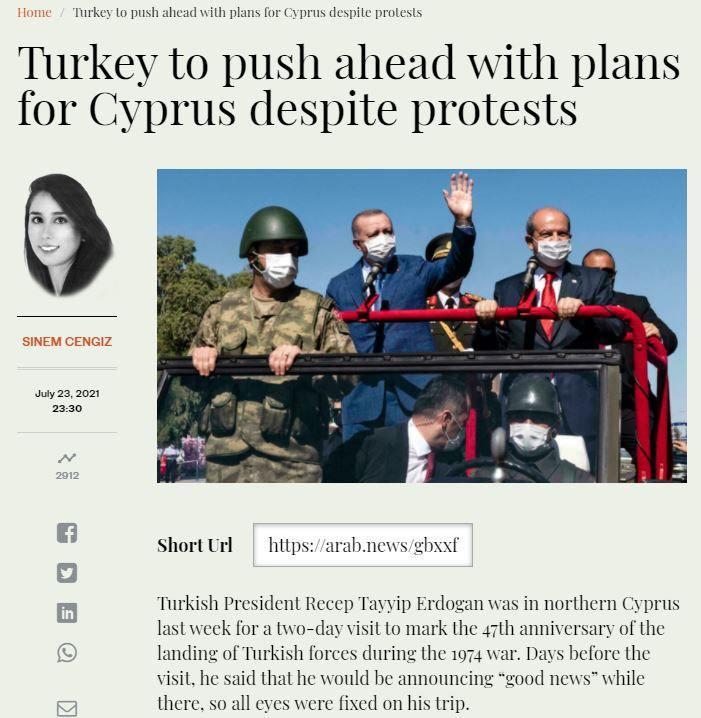 Arab News: Ankara Kıbrıs hedefine kilitlendi! 5 ülke tanımak üzere!